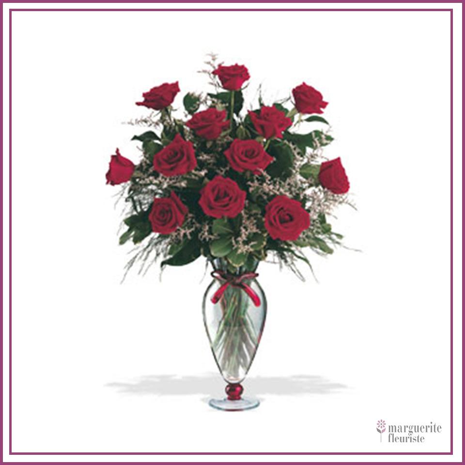 12 roses a partir de 75.00$