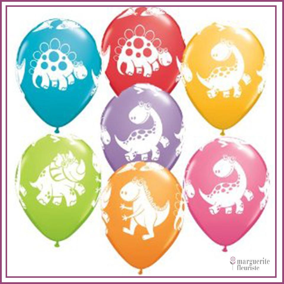 Ballon latex dinosaure perle 11pouces