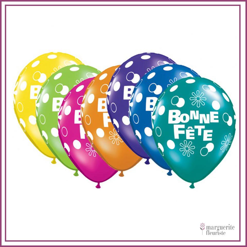 Ballon latex bonne fete perle 11pouces