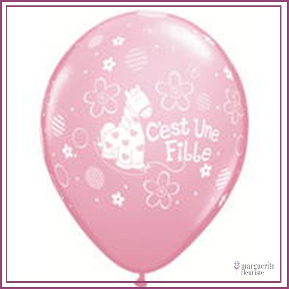 Ballon latex fille perle 11pouces