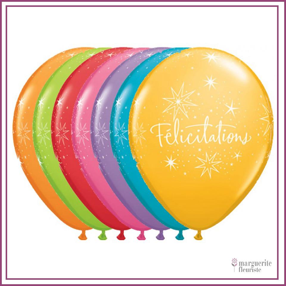 Ballon latex felicitation perle 11pouces