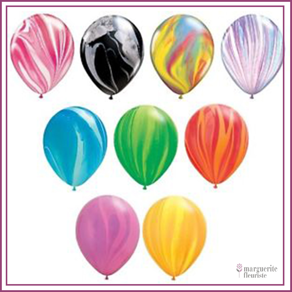 Ballon super agate latex perle 11pouces
