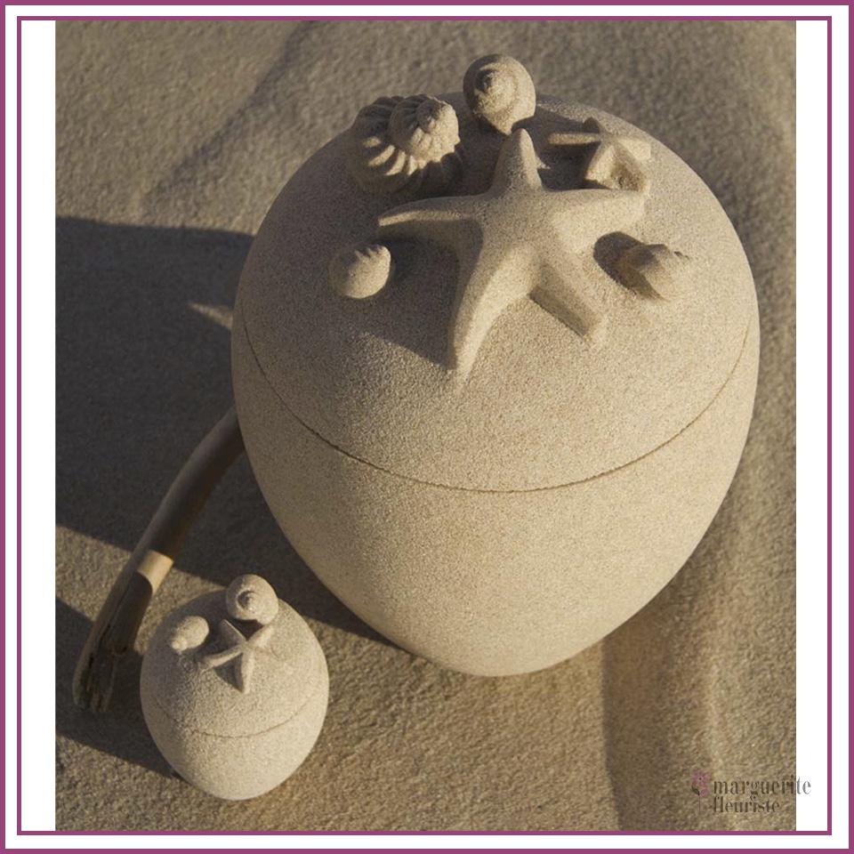 Urne sable des iles de madelaine étoiles
