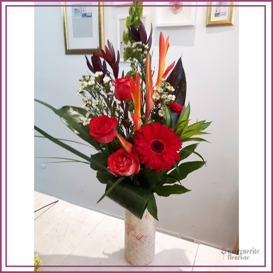 Bouquet de gerbera et rose